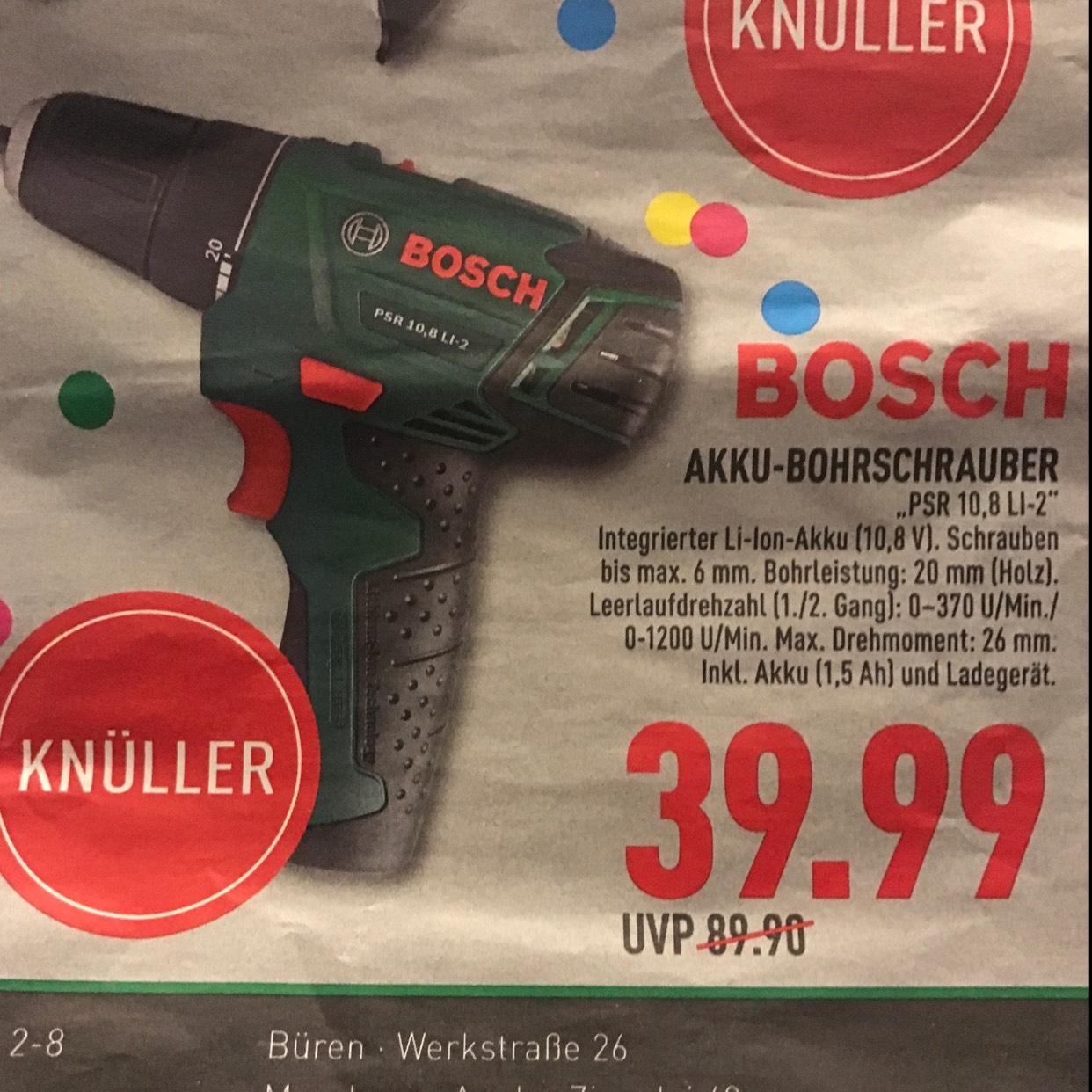 Bosch Akku Bohrschrauber incl. Akku und Ladegerät