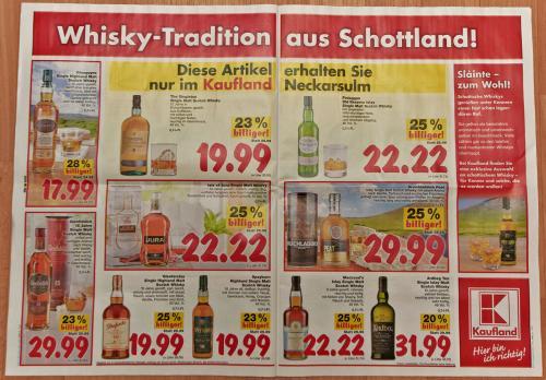 Scotch Whisky-Angebote @ Kaufland Neckarsulm