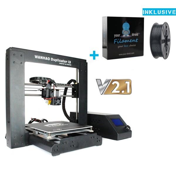 Wanhao i3 3D Drucker v2.1 inkl 1KG Filament Versand aus DE