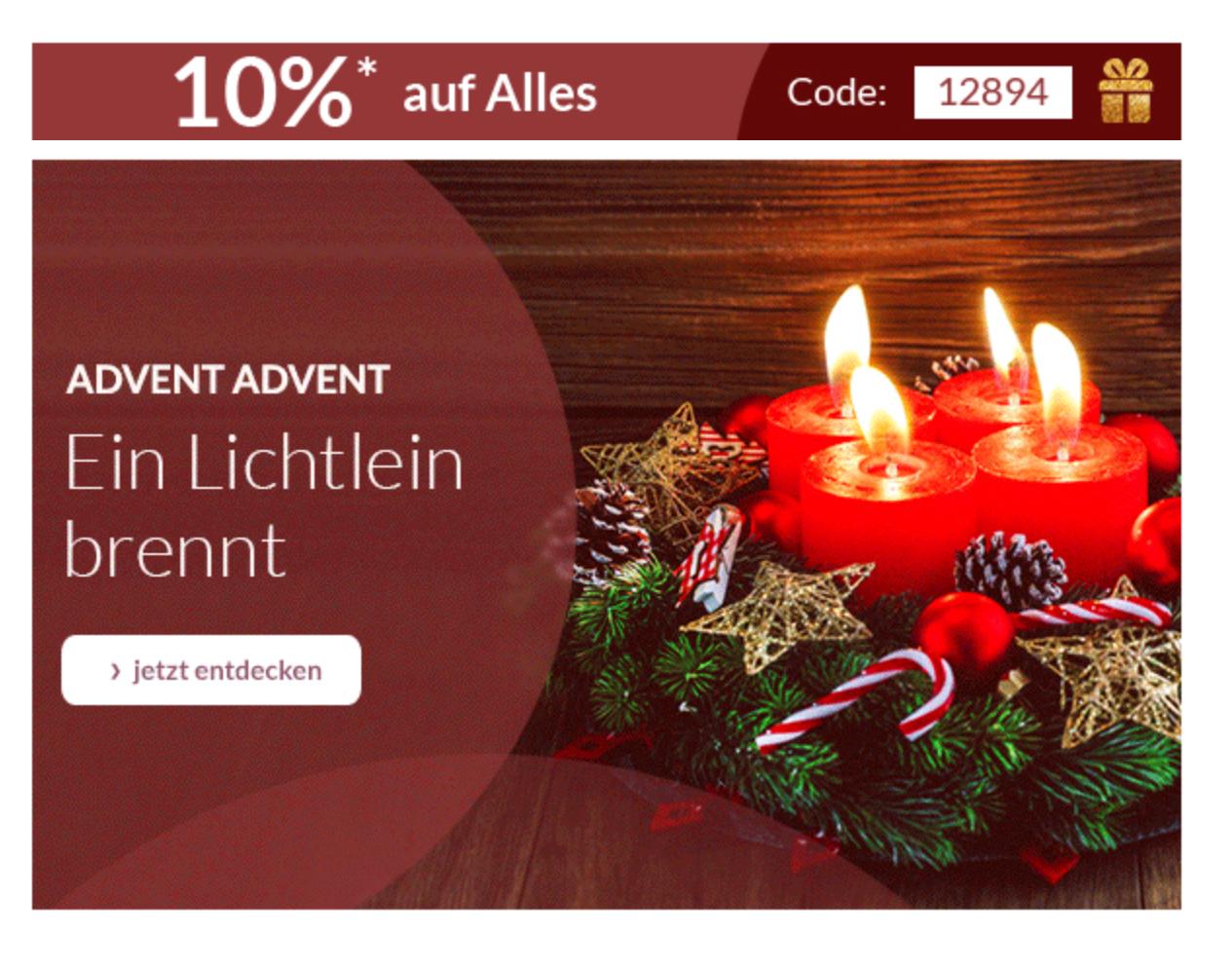 [schwab.de] 10% auf Alles, nur heute zum 4.Advent, auch auf Apple, z.B. iPhone X für 1041 Euro