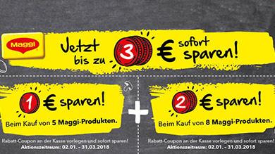 [Neuer Maggi Coupon] Bis zu 3€ sofort sparen