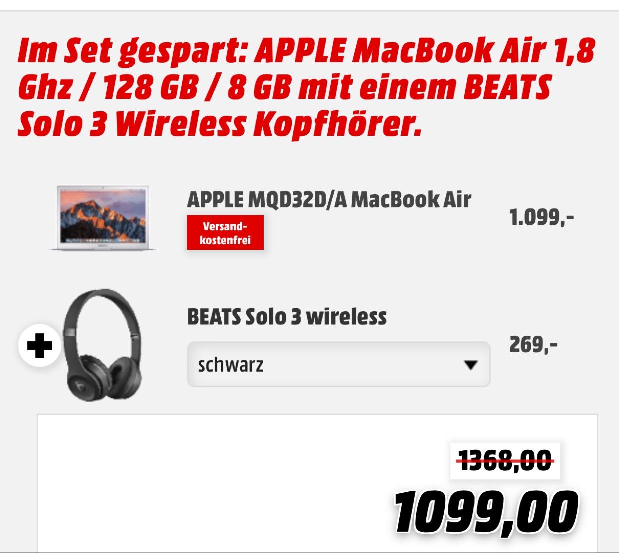 [MediaMarkt] MacBook + Beats Solo 3 gratis