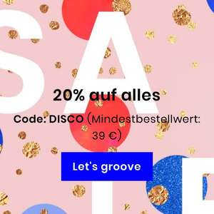 Junique Onlineshop 20% auf alles