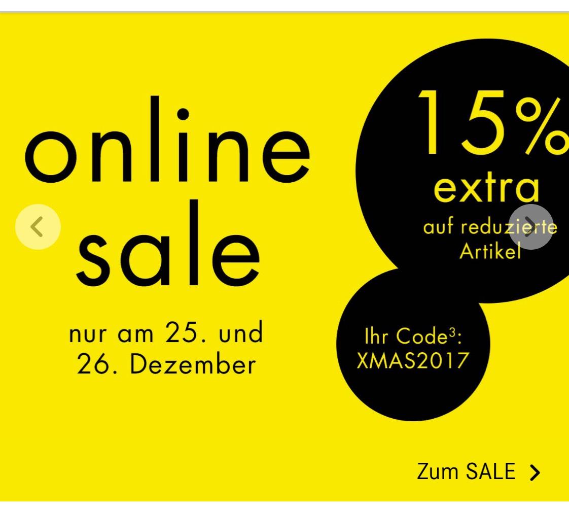 15% Rabatt auf Sale im Breuninger Online Shop
