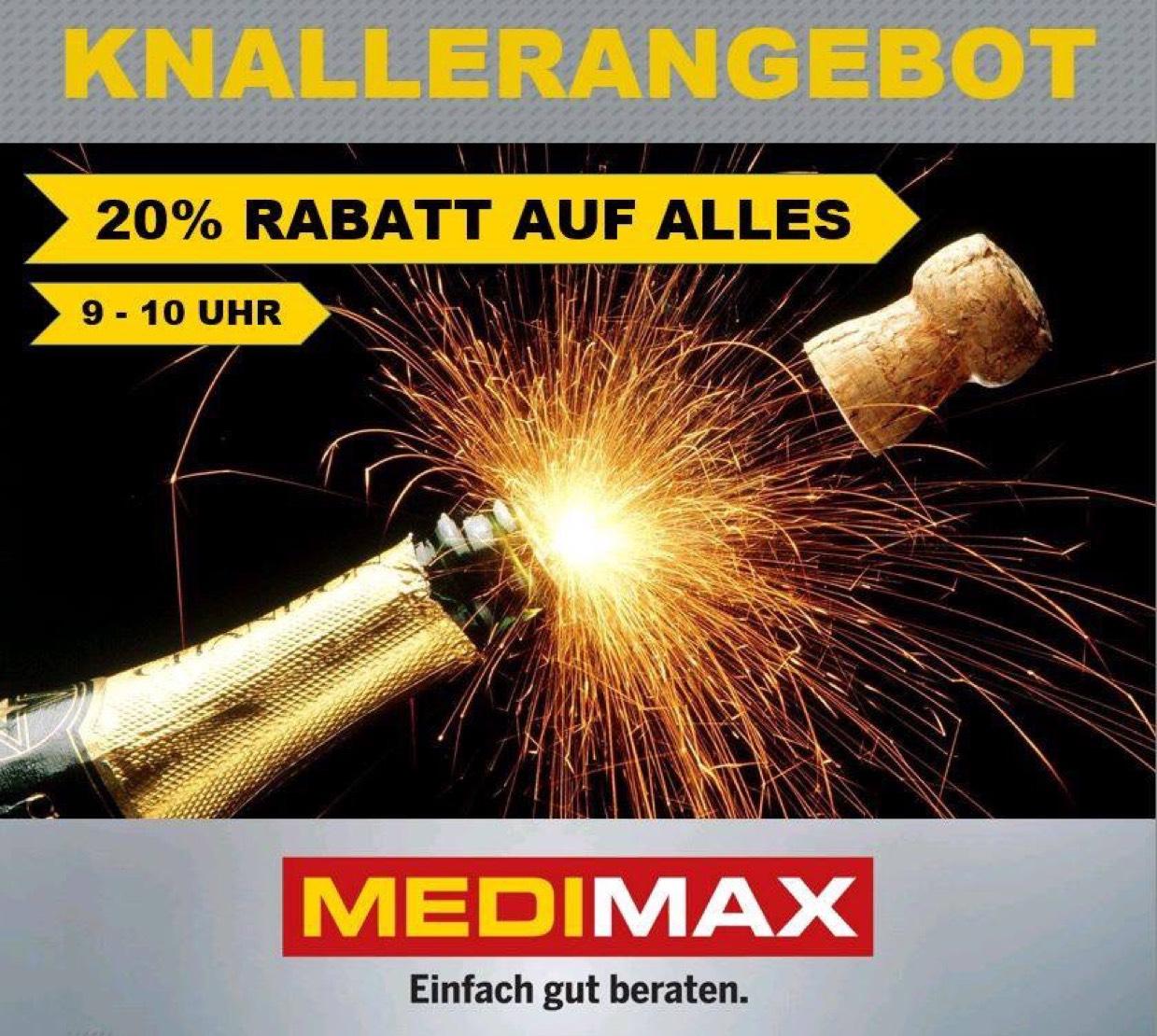 [LOKAL] Am 27.12. 09-10Uhr Medimax Riesa 20% auf wirklich fast ALLES!