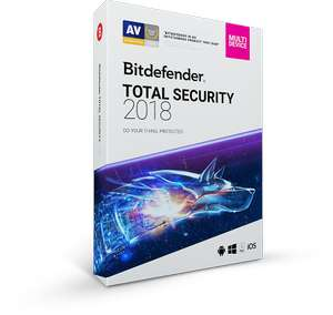 Bitdefender Total Security 2018 | 90 Tage Kostenloses Abo| 5 Geräte | 4- in 1 Security |