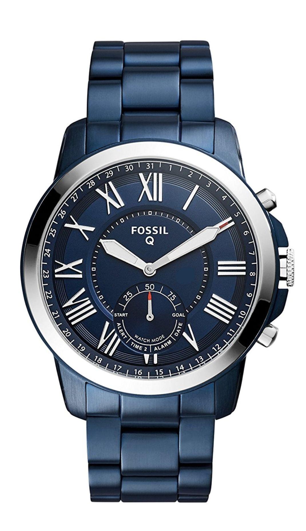 [amazon] Fossil Herren Hybrid Smartwatch Q Grant - Blau (FTW1140)