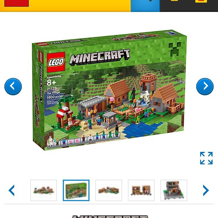 Lego online Shop-Minecraft Dorf 21128 für 139,99 Euro