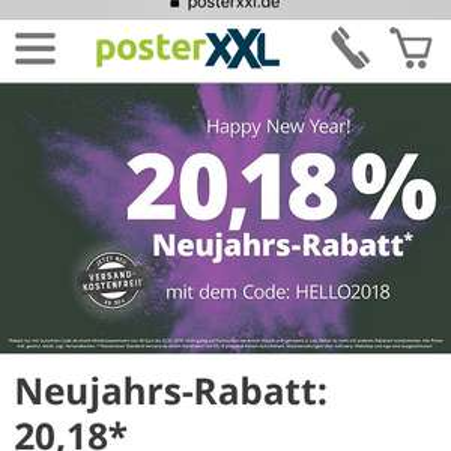 PosterXXL 20,18% Rabatt