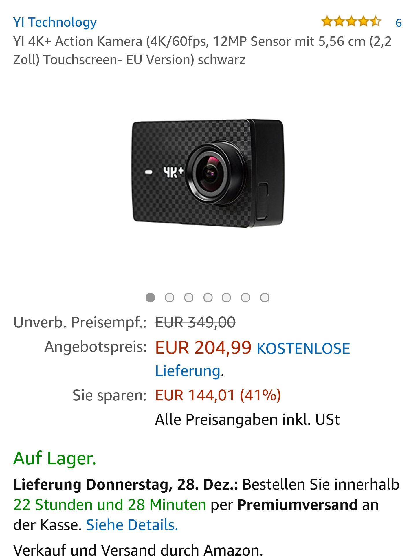 Xiaomi Yi 4 K plus Actioncam