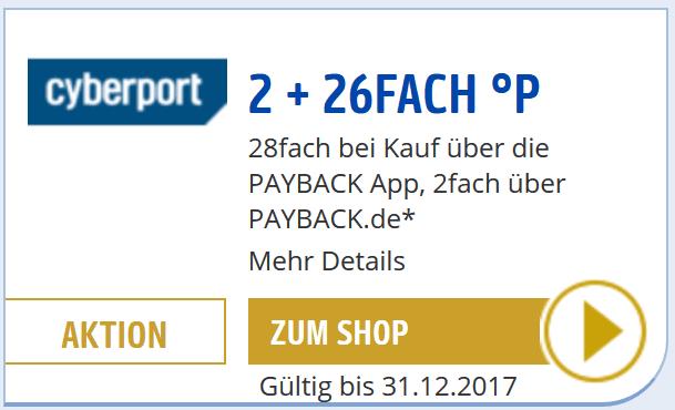 [Payback-App für ausgewählte Accounts] 14% auf alles bei Cyberport bis 31.12.17