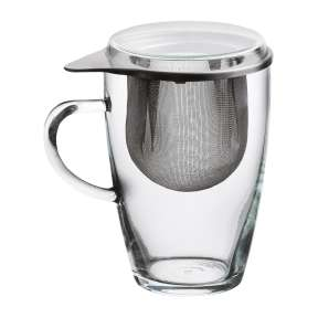Teeglas mit Edelstahlfilter und Deckel @AldiNord Teewoche ab 28.12 - Mit besonderem Genuss abschalten