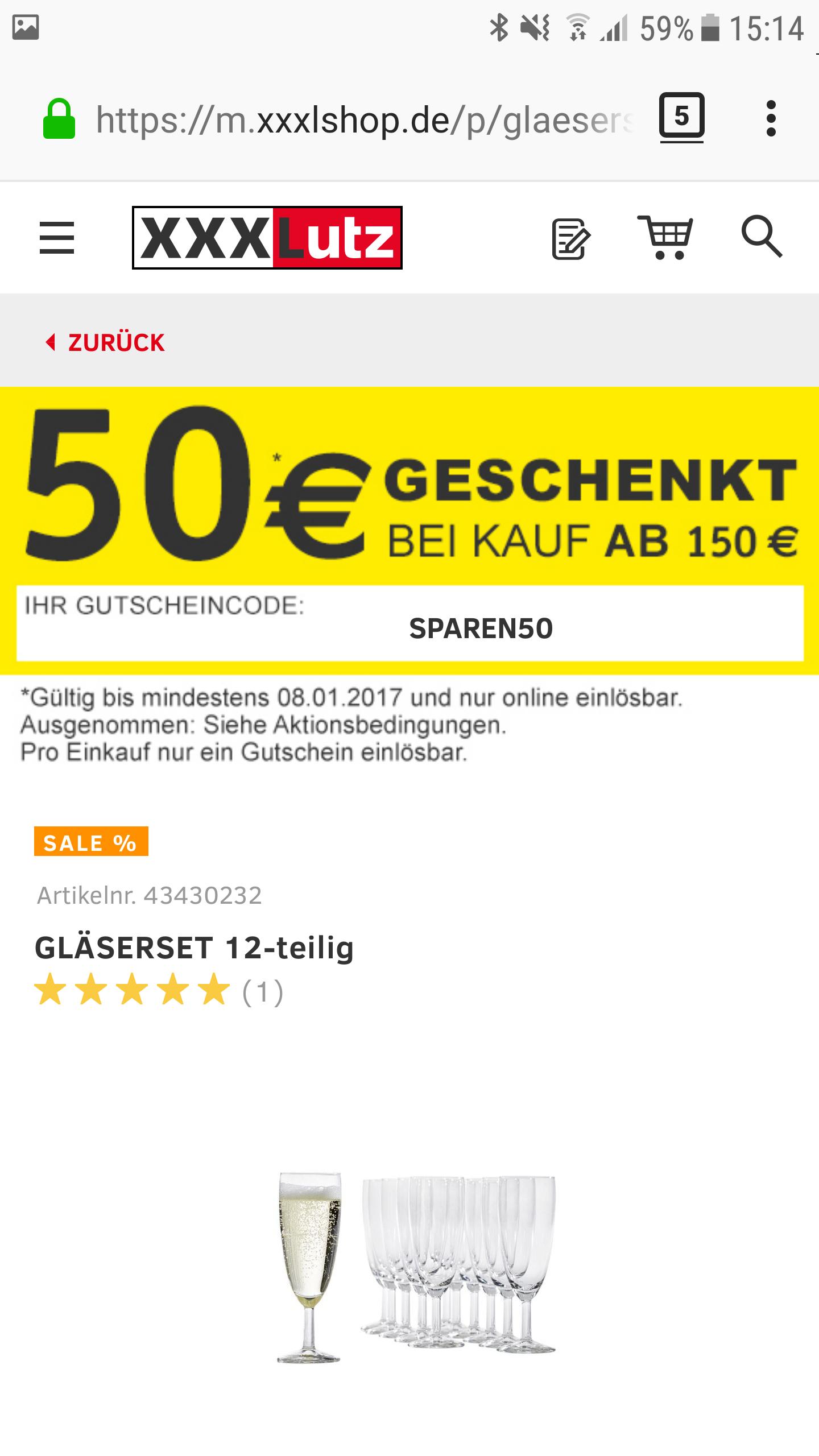 XXXL 50€ gespart ab 150 € MBW