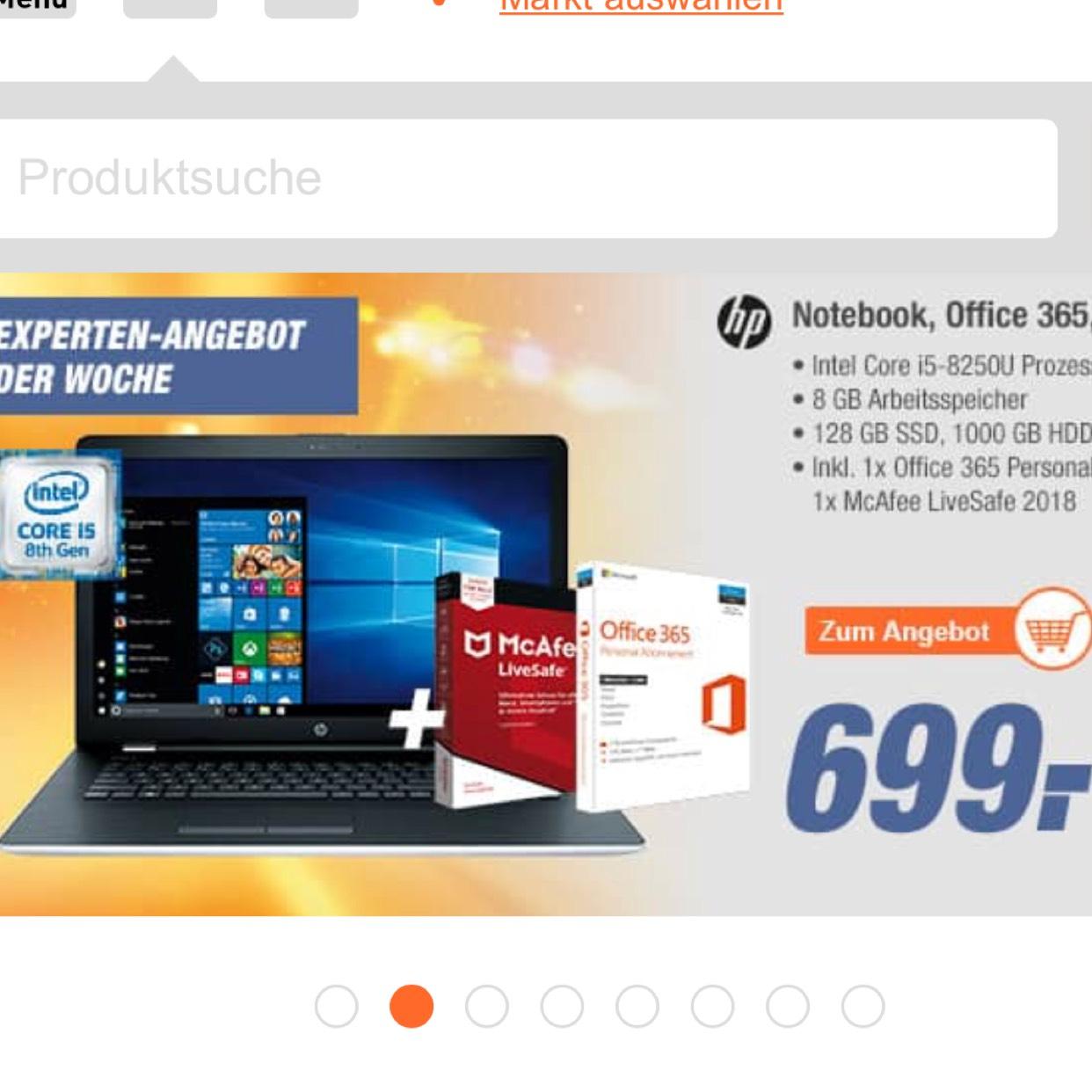 HP 17 BS108NG + McAfee LiveSafe 2018 +Officeabo für 1 Jahr