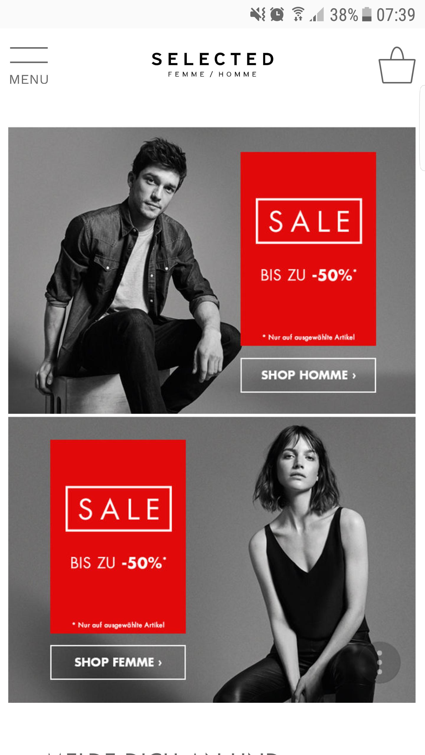 Selected Homme Sale mit bis zu 50% Rabatt