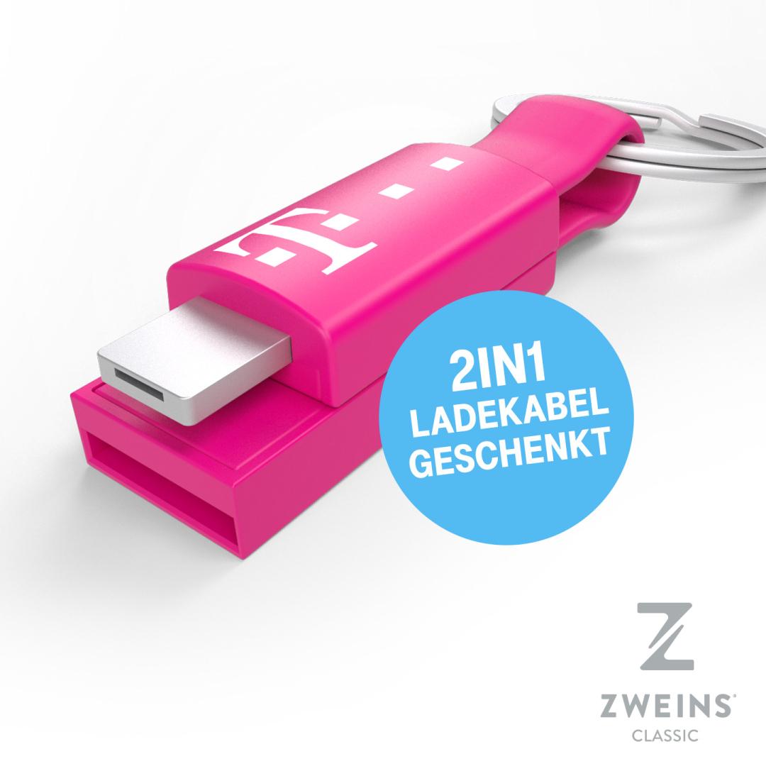 [Telekom Mega-Deal] Zweins Ladekabel im Magenta-Look geschenkt