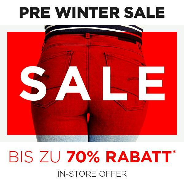 [LOKAL] bis zu -70% G-Star Pre-Winter-Sale
