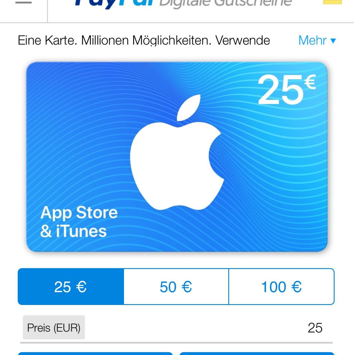 ITunes/AppStore Digitalgutschein 15% on Top