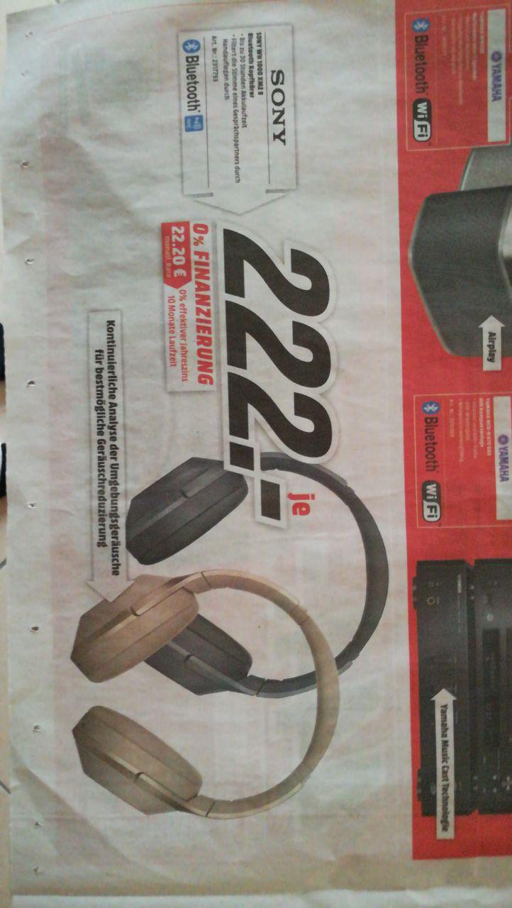 [Lokal Media Markt Mainz] Sony WH-1000 XM2 für 222 Euro