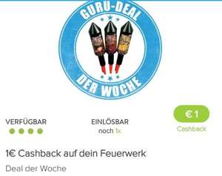 [Marktguru App] 1€ Cashback auf Feuerwerk aller Art
