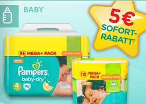 Kaufland - Pampers - bspw. Gr.4 - 196 Schuss - Batterie (Baby Dry oder Pants)