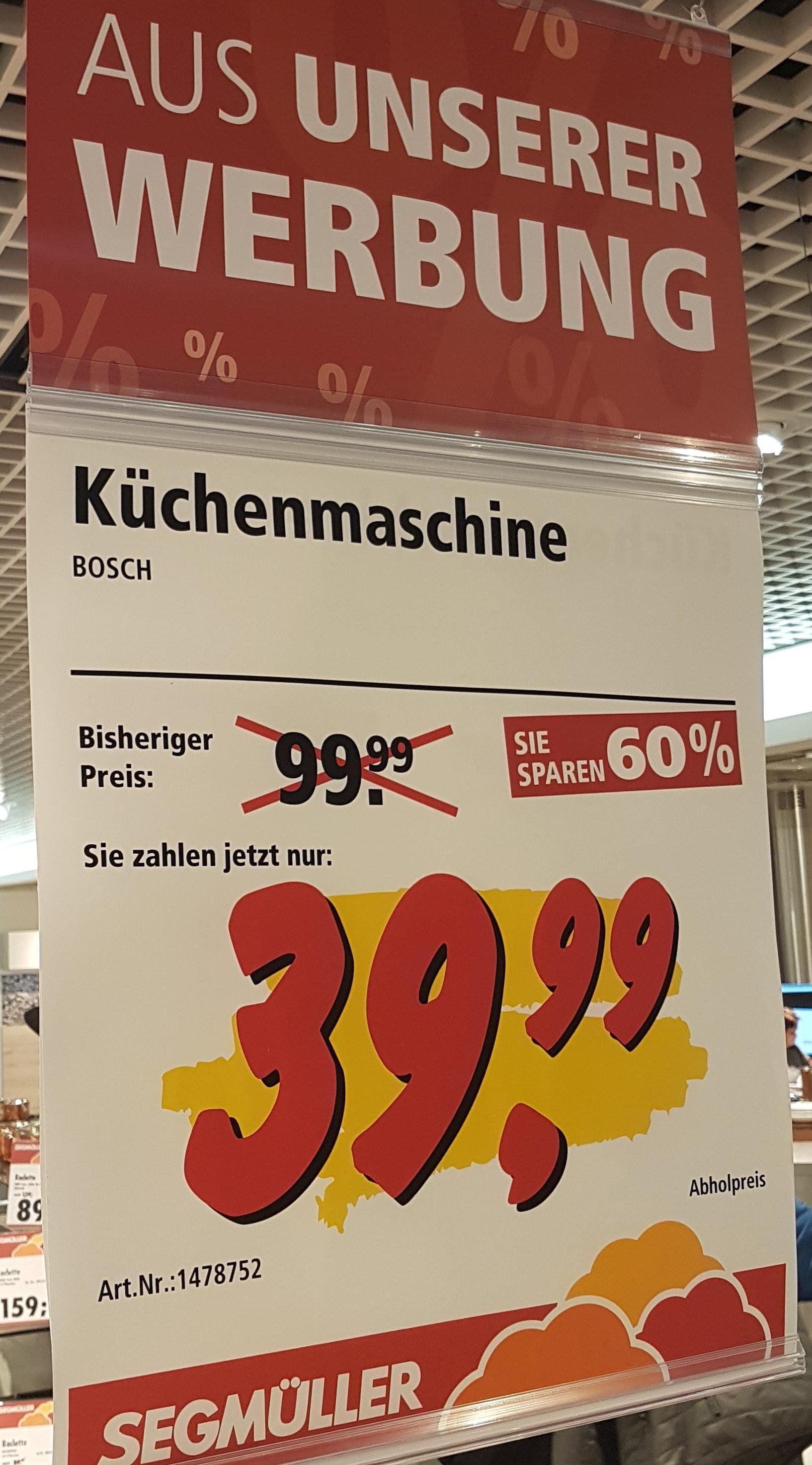[Segmüller Parsdorf] Bosch MUM4405 Küchenmaschine