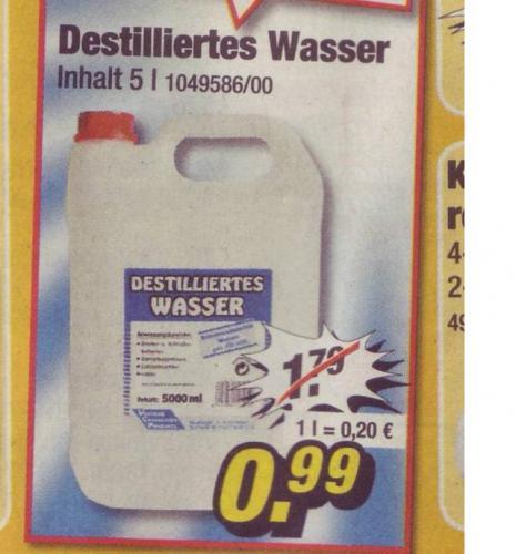 [OFFLINE] 5 Liter Destilliertes Wasser bei POCO nur 99 Cent