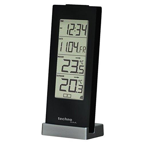 Technoline WS 9767 Wetterstation mit Funkuhr und Innen- und Außentemperaturanzeige + weitere Modelle [AmazonPrime]