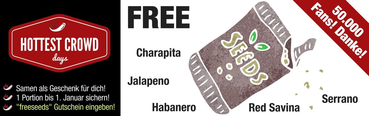Pepperworld Hot Shop - Samen im Wert von 2,50 kostenlos, zzgl. Versand