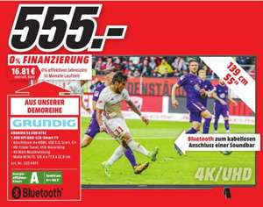Grundig Fernseher GUB 8762 (55 Zoll, UHD 4K, HDR) [MM Lokal Papenburg]