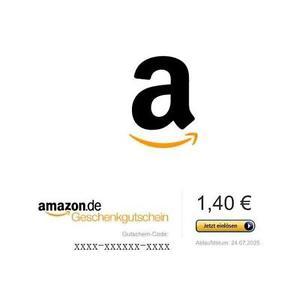 (Ebay) Amazon Gutschein 1,40 EUR - schnell verdiente 20ct.