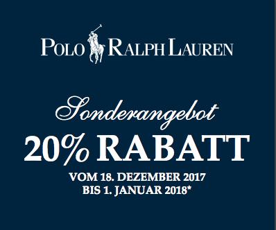Zusätzlich 20% Rabatt in den Polo Ralph Lauren Factory Stores
