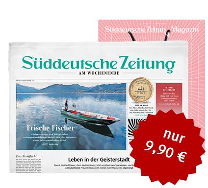 Süddeutsche Zeitung (SZ) 4 Wochen lesen für 9,90€