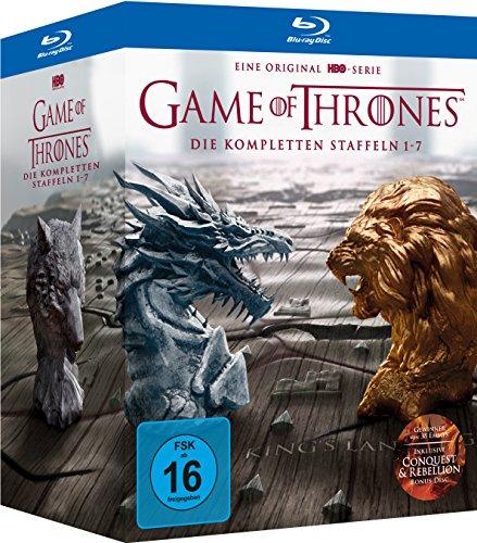Game of Thrones: Die kompletten Staffeln 1-7 Digipack + Bonus Discs + Fotobuch Blu Ray (DVD 89,97€)
