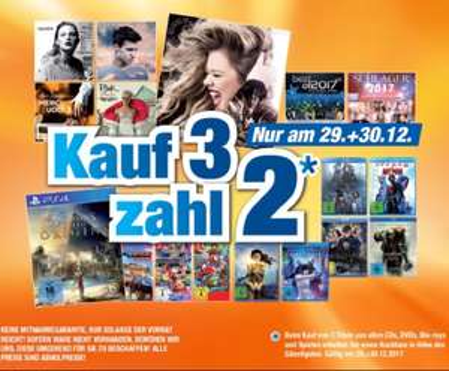 [Expert] 3 für 2 Aktion für Games, DVDs, CDs und Blu-Rays