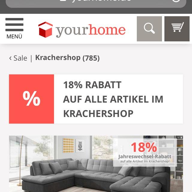 18% Rabatt + kostenloser Versand ab 50€ auf Möbel, Haushalt & Deko