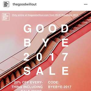 20% auf Alles bei Thegoodwillout
