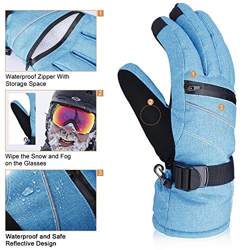 Blitzangebot-Preis: (-30%) 3M Thinsulate Winddicht Wasserdicht Handschuhe Damen Winter Handschuhe mit TOUCHSCREEN FUNKTION