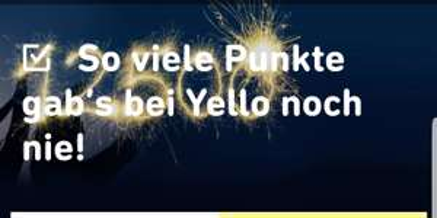 Yello: Strom Basic mit 12.500 Payback Punkten | Strom + Gas 25.000 Punkte
