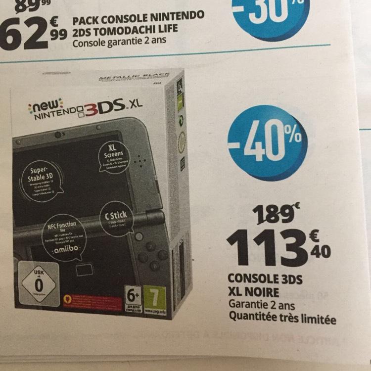 [Lokal Grenzgänger Luxemburg] New Nintendo 3DS XL für 113,40€ statt 206 €, COD Infinite Warfare PS4 für 5€ statt 15€ und Nintendo 2D mit Tomodachi Life für 62,99 € statt 88€ @Auchan