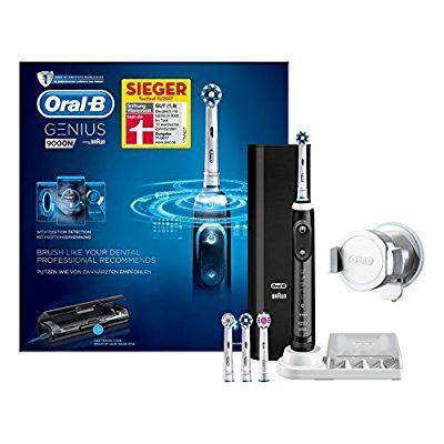 Oral-B Genius 9000N CrossAction schwarz, zudem 30€ Cashback, Wiederaufladbare Elektrische Zahnbürste