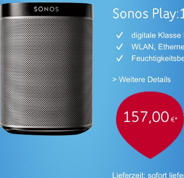 Sonos Play:1 schwarz (online!)