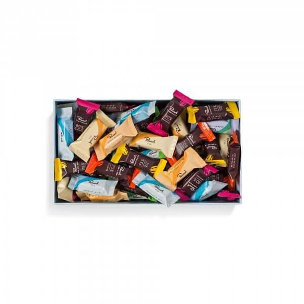 Gratis Probierpaket mit 20 Schokoladenminis ab 10€ MBW [Rausch Schokolade]