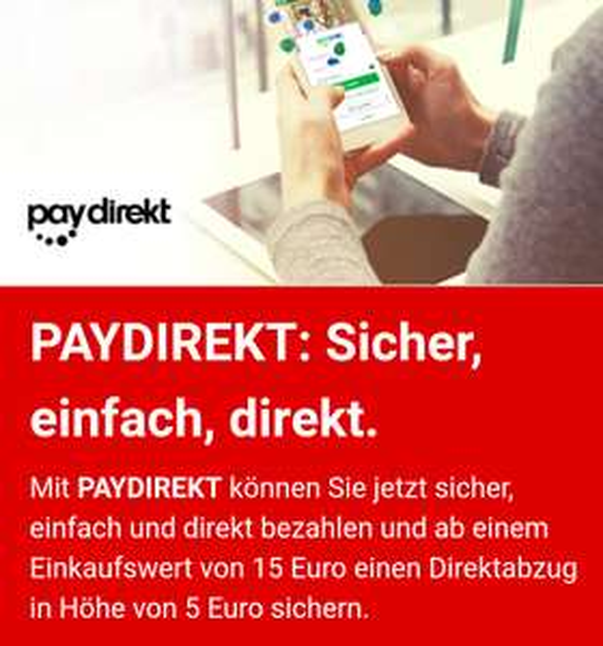 [paydirekt + Mediamarkt] 5€ Direktabzug bei 15€ MBW