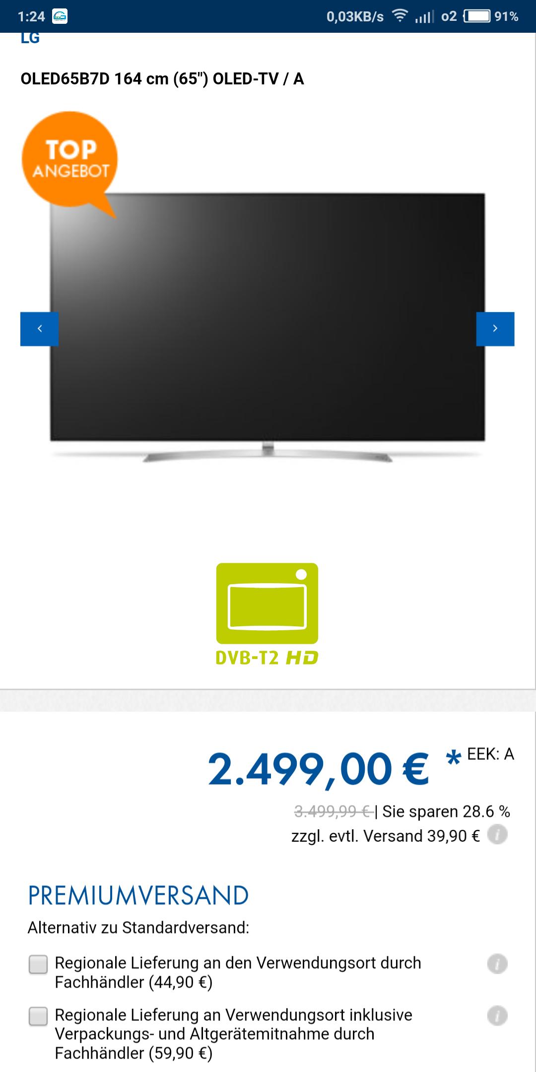"""LG OLED65B7D 164 cm (65"""")"""