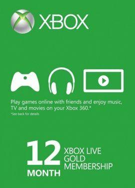 MMOGA - Xbox Live Gold - 12 Monate Mitgliedschaft