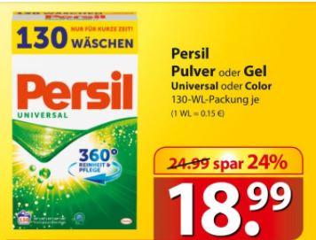 [Famila, Nordost] PERSIL Waschmittel Pulver oder Gel, Universal/Color