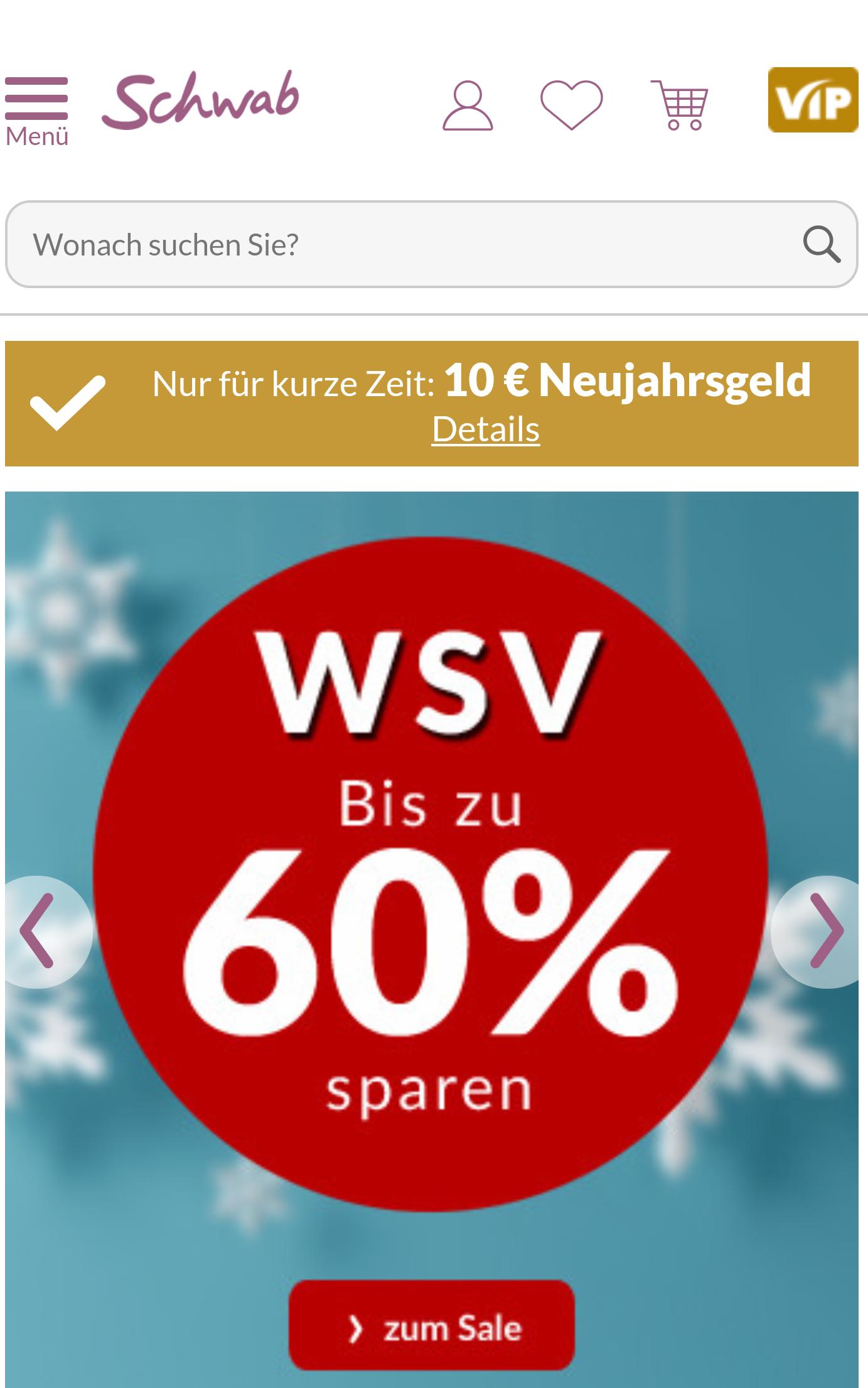 10€ Gutschein auf alles bei Schwab.de 30€ MBW