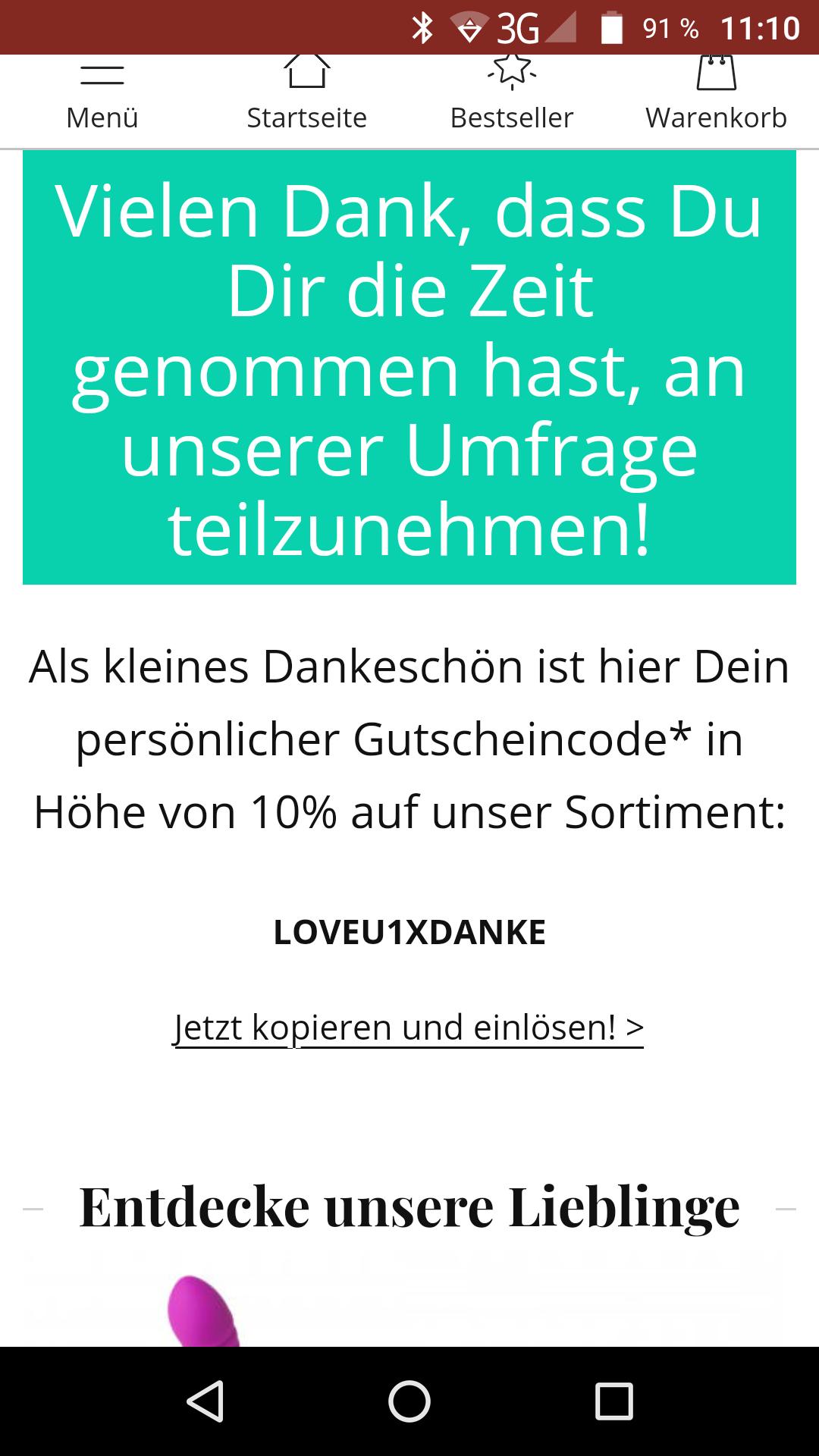 10% bei Amorelie