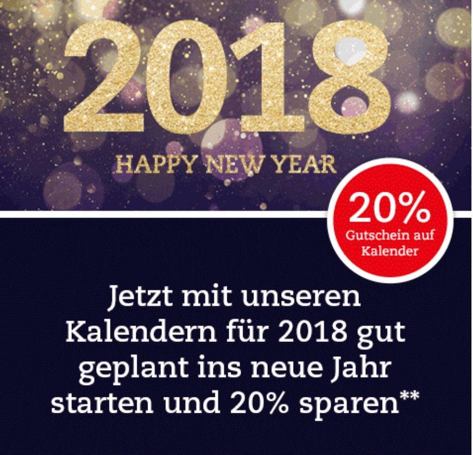 20% auf alle Kalender für 2018 (Thalia.de)